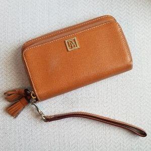 Dooney & Bourke Tassel Leather Wallet Wristlet